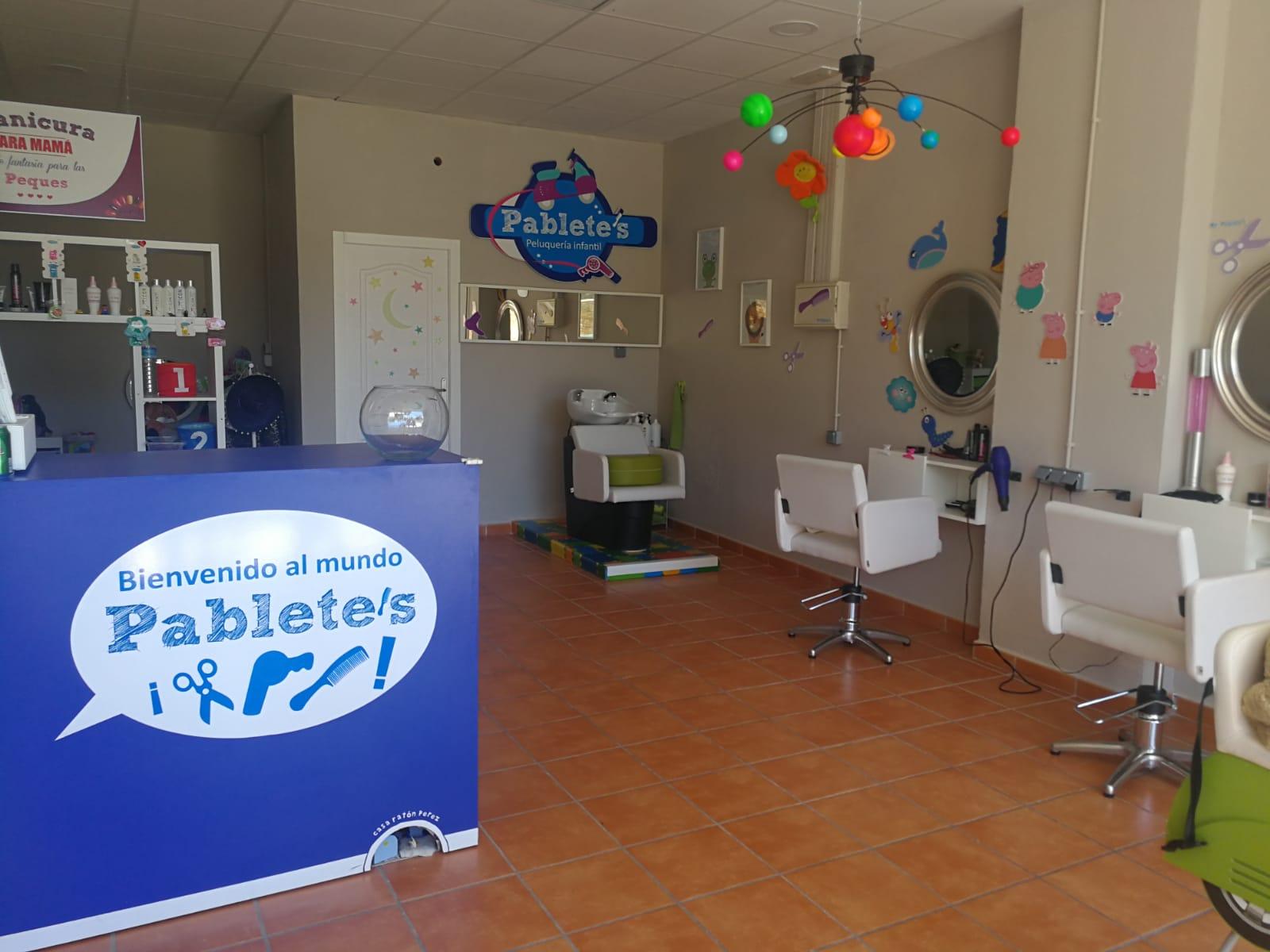 Local y peluqueria infantil para celebraciones de cumpleaños