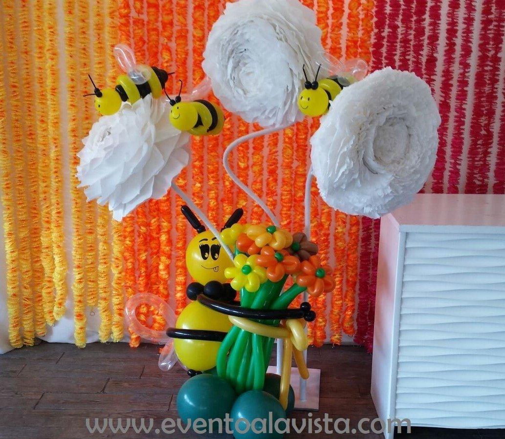 Abejas hechas con globos de Garland Fantasía