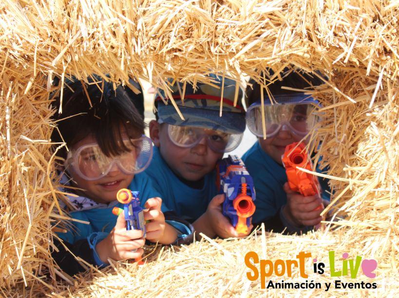 Batallas Nerf para fiestas de cumpleaños infantiles en Málalga con Verdecora
