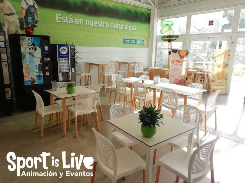 Cafeteria para fiestas de cumpleaños infantiles en Verdecora de Málaga