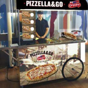 Carrito de pizzetas Campofrío para fiestas infantiles