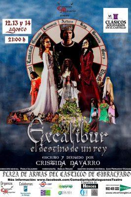 Cartel teatro solidario de Gibralfaro