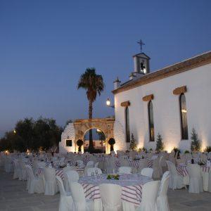 Celebración en la zona exterior de Cortijo Hacienda la Capilla