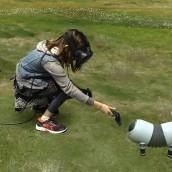 Niña jugando a realidad virtual con VRFUN de Málaga