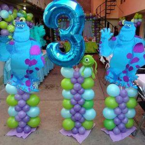 Columnas de globos de Monstruos SA