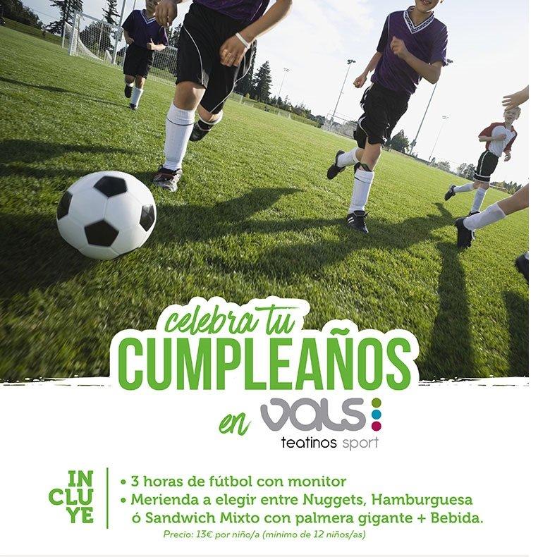 Cumpleaños niños futbol