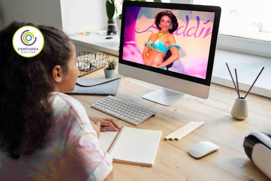 Cumpleaños virtual con videollamada de princesas disney