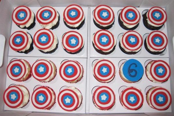 Cupcake Capitán América