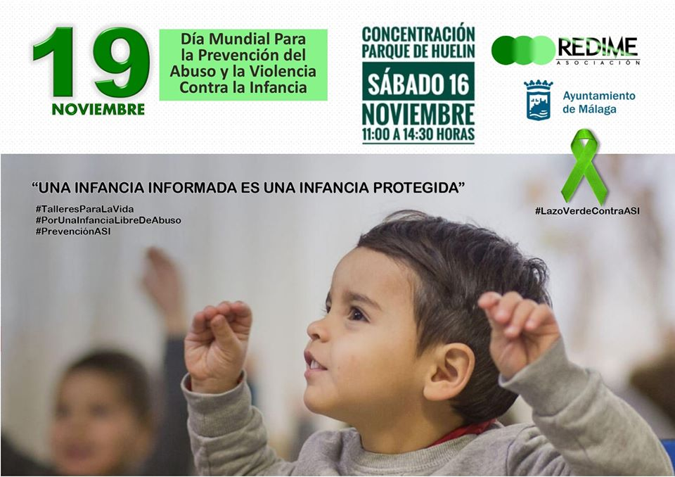 Evento contra abuso sexual infantil en Málaga.