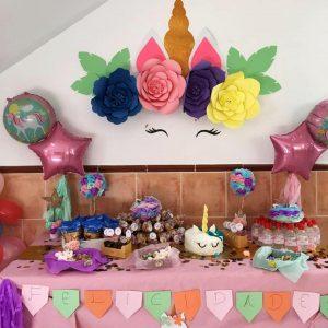 Mesa dulce de unicornio.