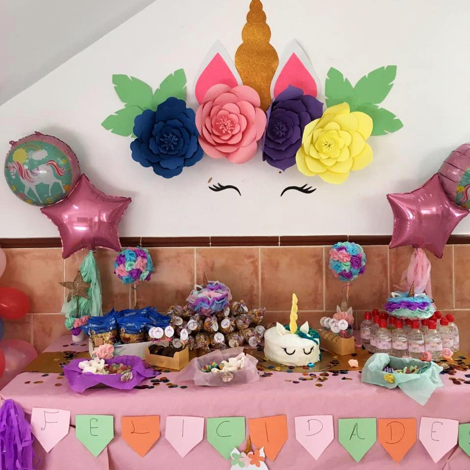 Dely's Party Fiesta temática Unicornios mesa dulce