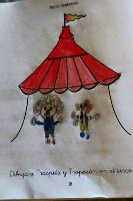 Dibujo niño en el libro de María Cañizares Lee y dibuja 11 cuentos diferentes para ti