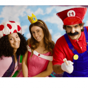 Personajes de Escape Room de Educreativo inspirado en Súper Mario
