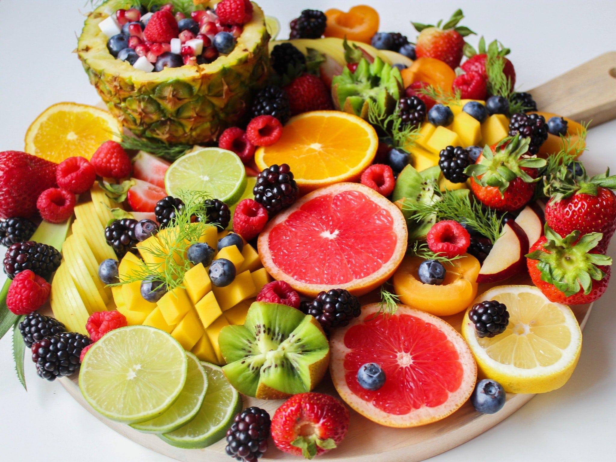 Frutas en un cumpleaños