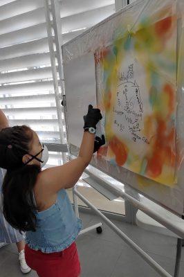 Grafiti en el taller de arte urbano de Málaga