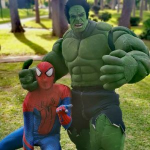 Hulk y Spiderman