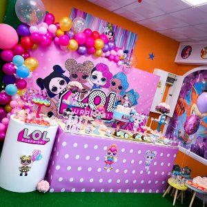 Mesa de dulces LOL