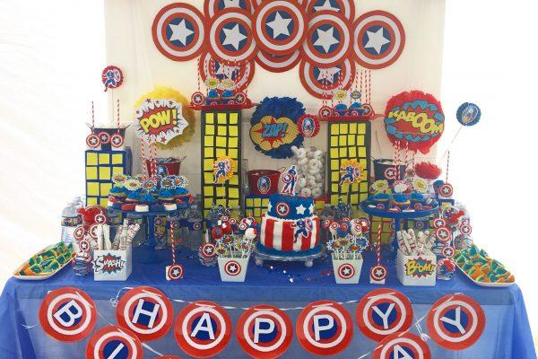 Mesa dulce Capitán América