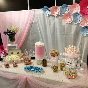 Mesa dulce para fiesta de cumpleaños.
