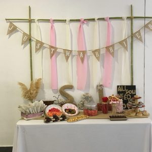 Mesa dulce para fiestas infantiles.