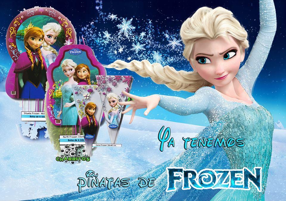 Piñatas y cartuchos de golosinas de Frozen - Golosinas Charritos
