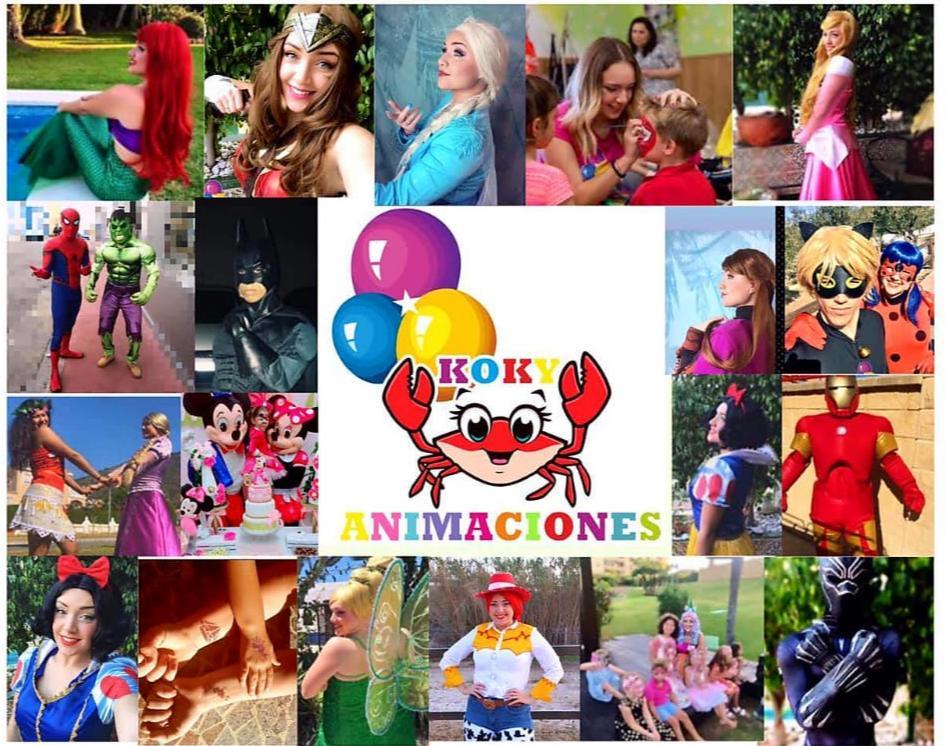 Princesas animación infantil en Málaga Koky Animaciones