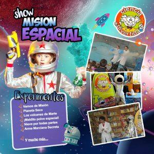 Show Misión Espacial fiestas infantiles Ciencia Divertida
