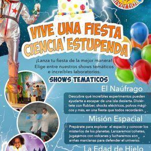 Shows temáticos de ciencias para fiestas de cumpleaños en Málaga Ciencia Divertida