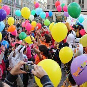 Evento escolar en Málaga con animación infantil.