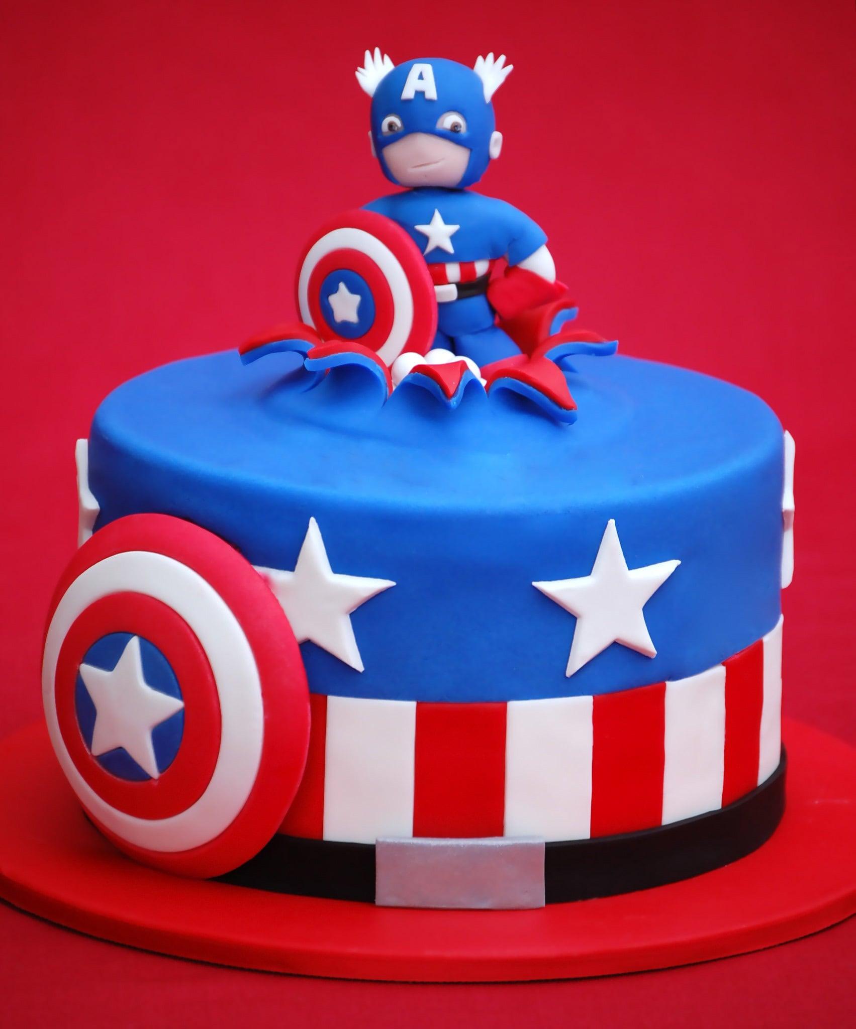 Tarta del Capitán América