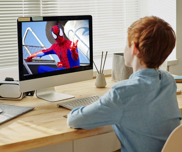 Videollamada de cumpleaños con Spiderman