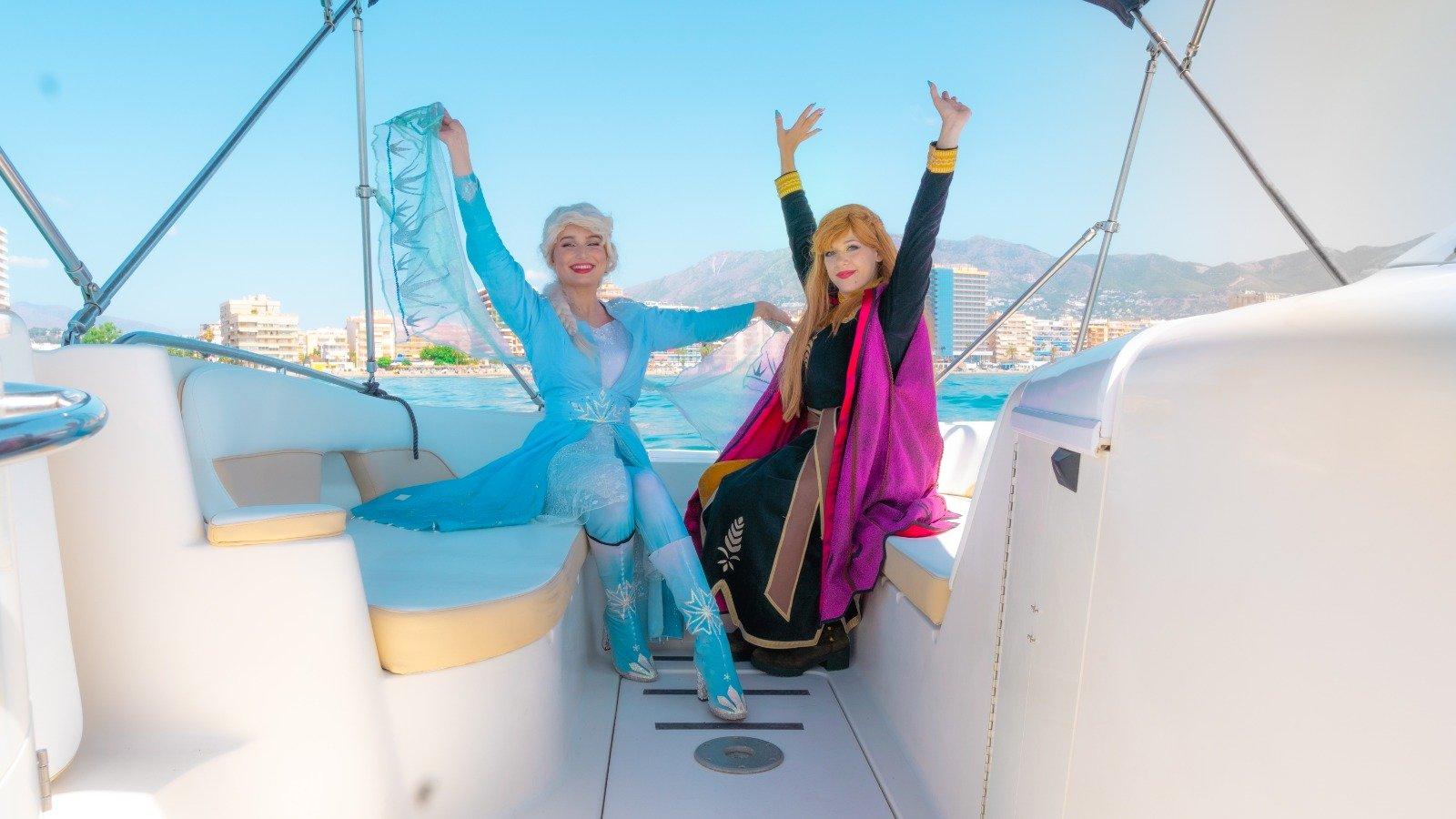 cumpleaños en barcos en la costa del sol
